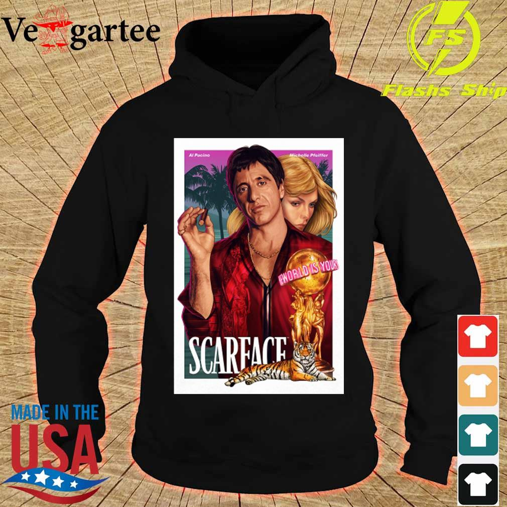 Al Pacino Michelle Pfeiffer world is yours Scarface s hoodie