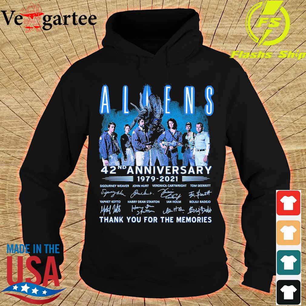 Aliens 42nd anniversary 179 2021 thank You for the memories signatures s hoodie