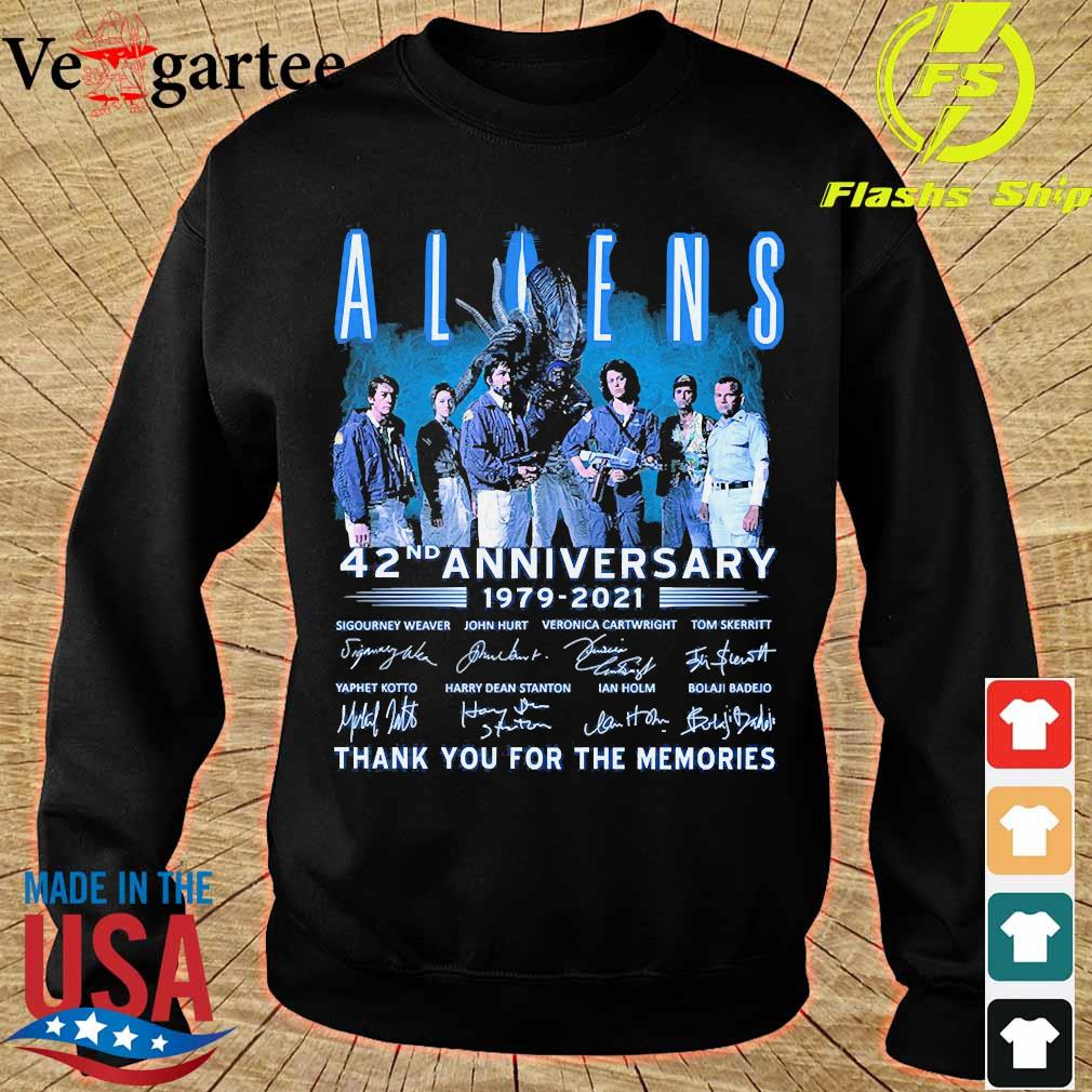 Aliens 42nd anniversary 179 2021 thank You for the memories signatures s sweater