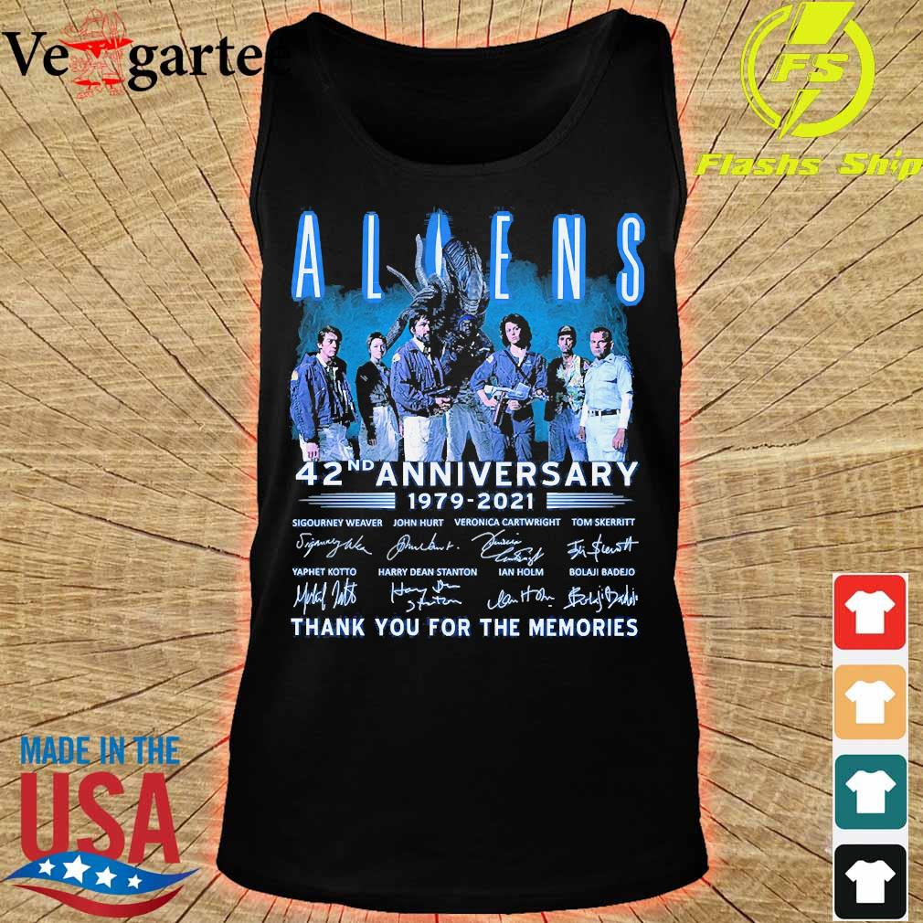 Aliens 42nd anniversary 179 2021 thank You for the memories signatures s tank top