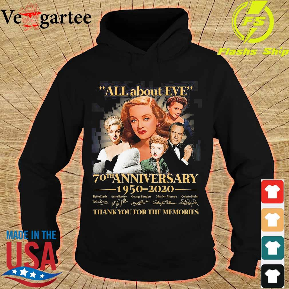 All about Eve 70th anniversary 1950 2020 thank You for the memories signature s hoodie