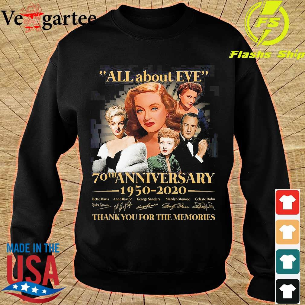 All about Eve 70th anniversary 1950 2020 thank You for the memories signature s sweater