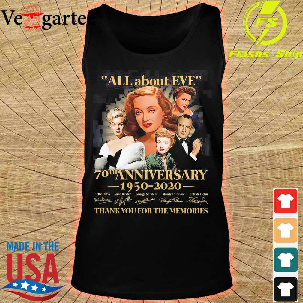 All about Eve 70th anniversary 1950 2020 thank You for the memories signature s tank top