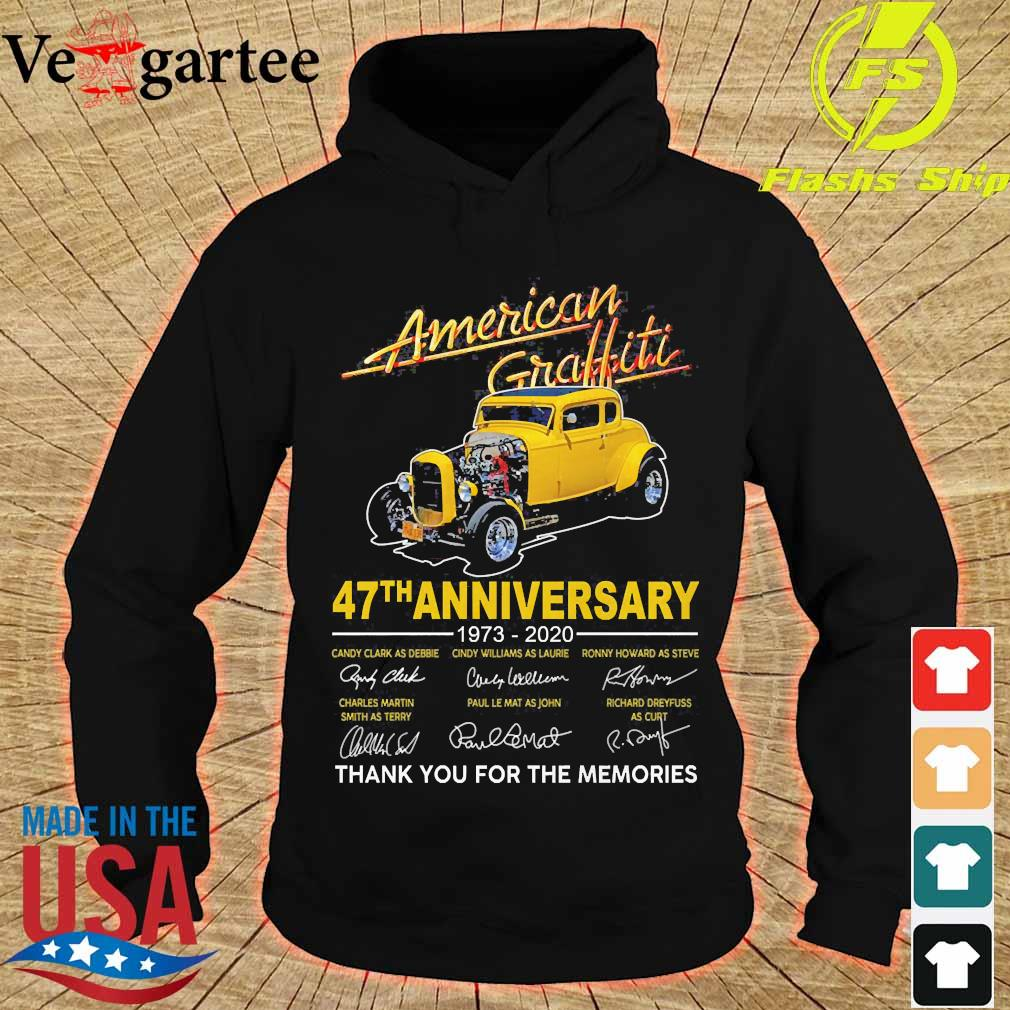 American Graffiti 47th anniversary 1973 2020 thank You for the memories signatures s hoodie