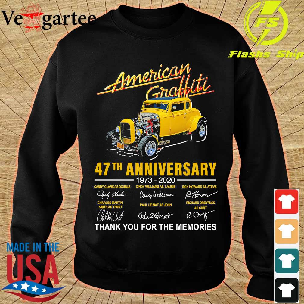 American Graffiti 47th anniversary 1973 2020 thank You for the memories signatures s sweater