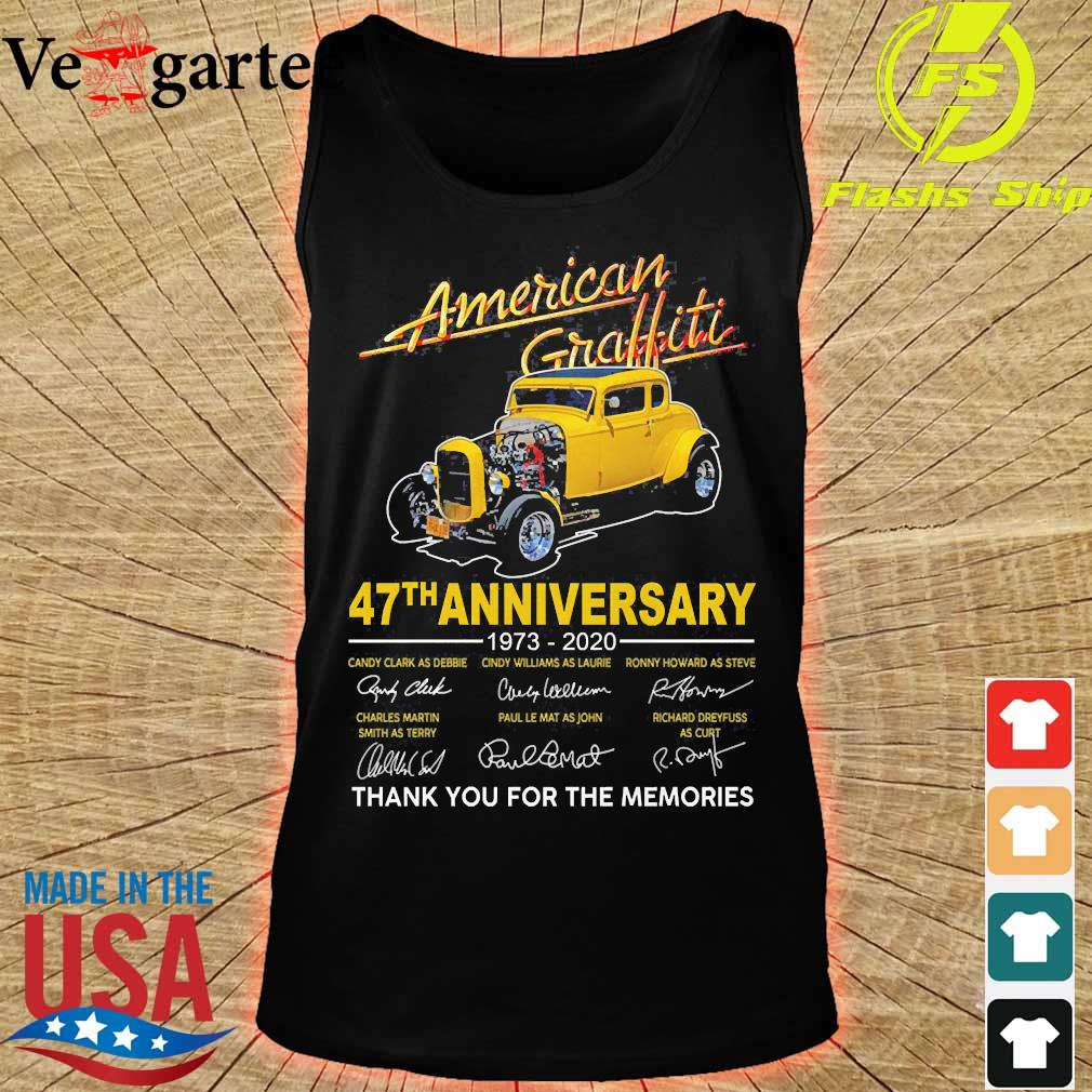 American Graffiti 47th anniversary 1973 2020 thank You for the memories signatures s tank top