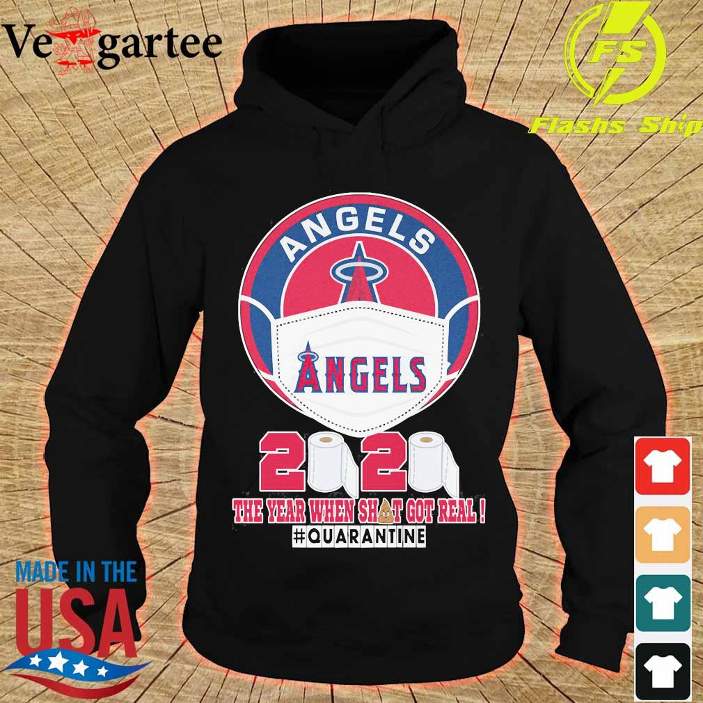 Angels face mask 2020 the Year when shit got real quarantine s hoodie