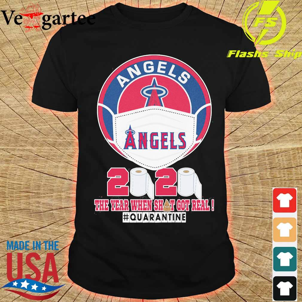 Angels face mask 2020 the Year when shit got real quarantine shirt
