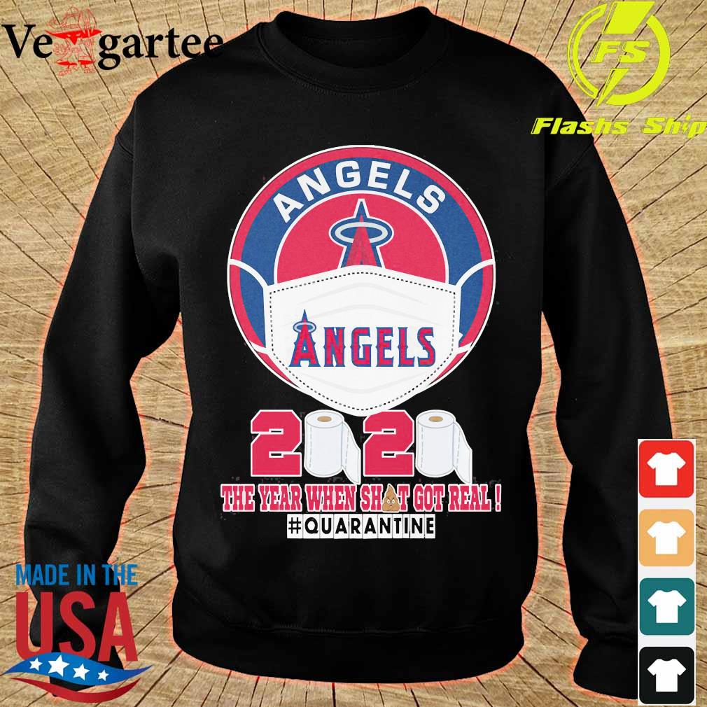 Angels face mask 2020 the Year when shit got real quarantine s sweater