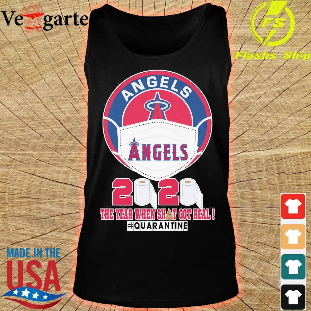 Angels face mask 2020 the Year when shit got real quarantine s tank top