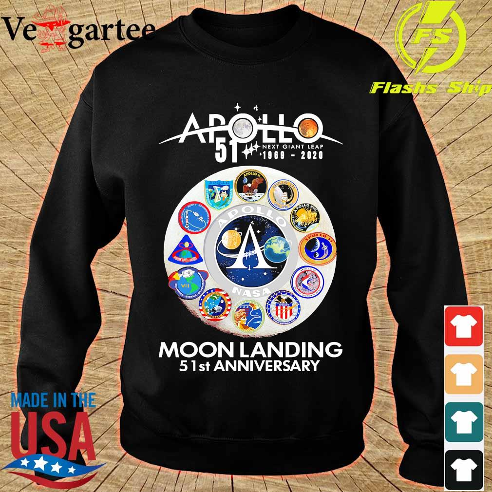 Apollo 51 next giant leap 11969 2020 Moon Landing 51st anniversary s sweater