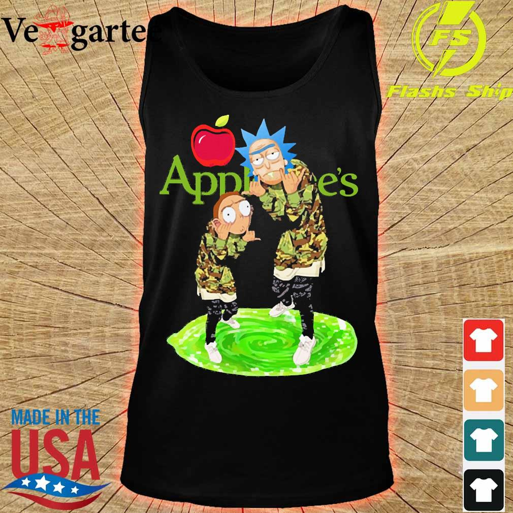 Applebee's Rick and Morty s tank top