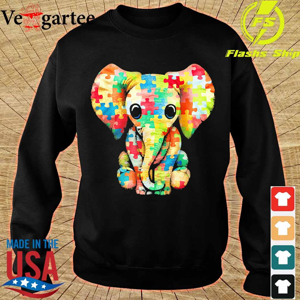 Autism Elephant Insert color s sweater