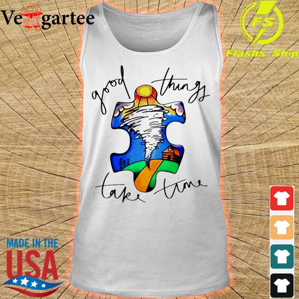 Autism good things take time s tank top
