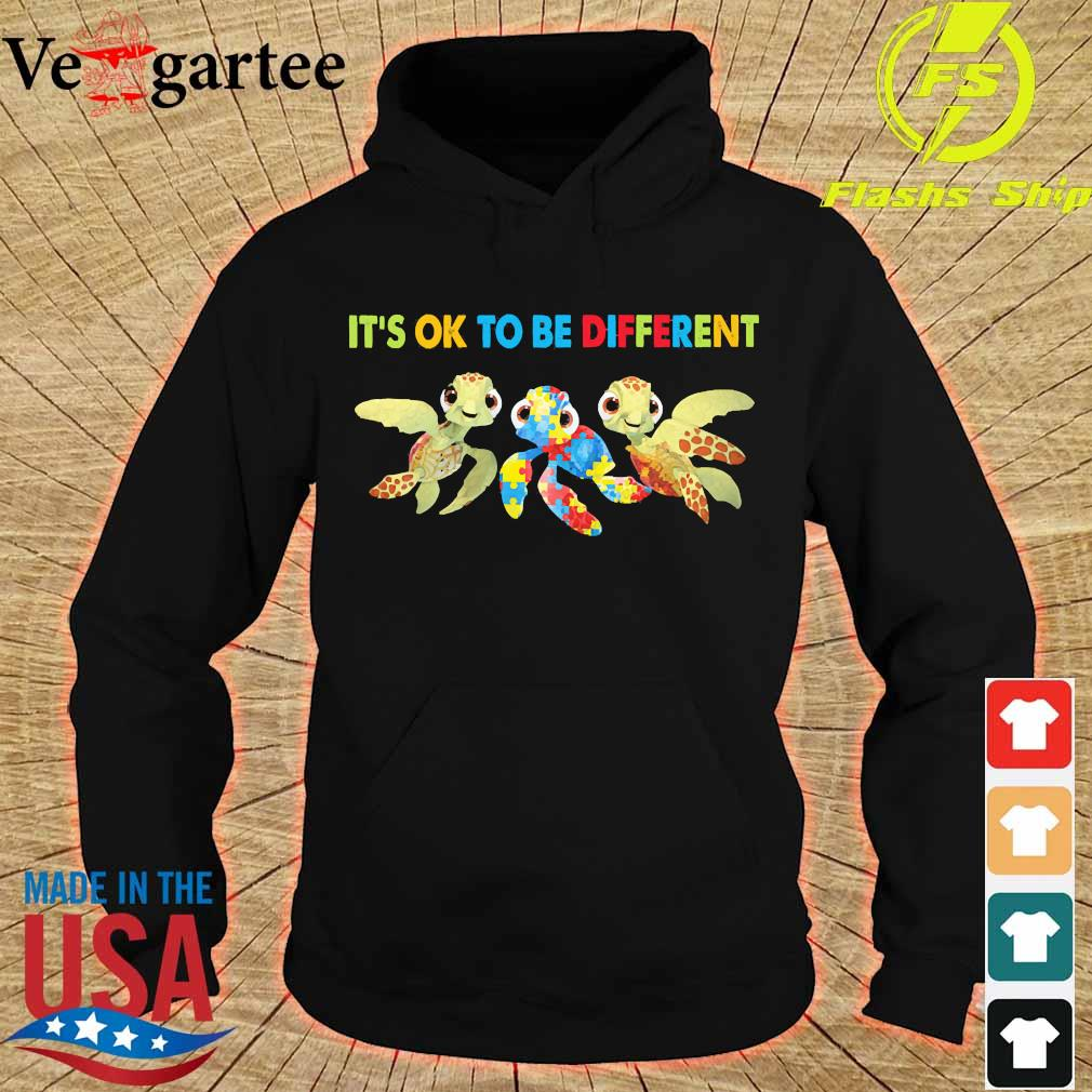 Autism Turtles It's ok to be different s hoodie