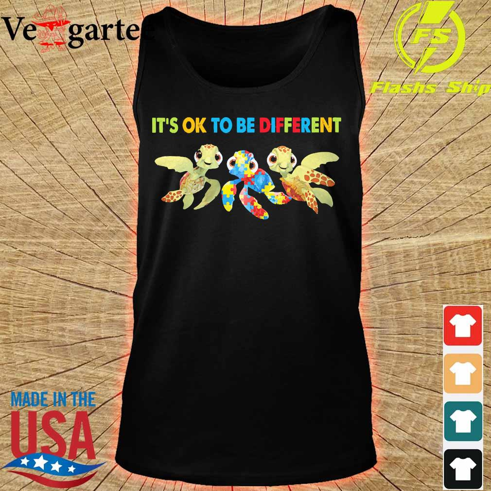Autism Turtles It's ok to be different s tank top