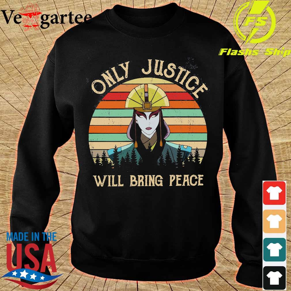 Avatar Kyoshi Only justice will bring peace vintage s sweater