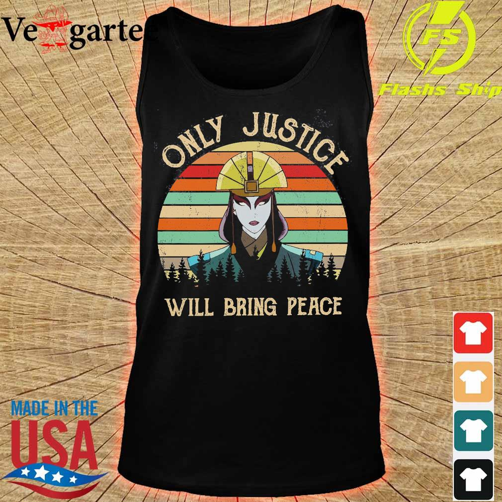 Avatar Kyoshi Only justice will bring peace vintage s tank top