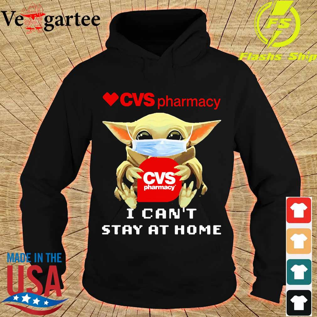 Baby Yoda face mask hug cvs pharmacy I can't stay at home hoodie