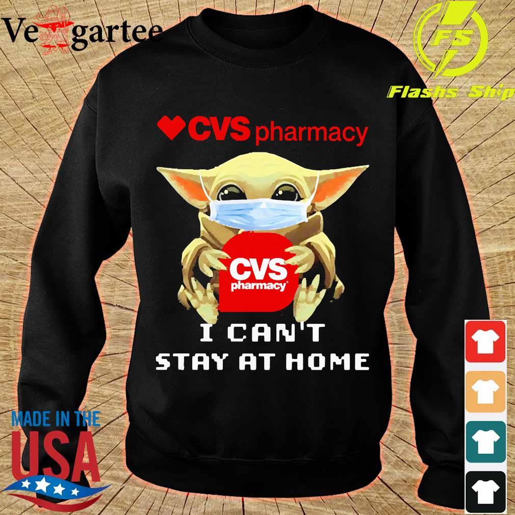 Baby Yoda face mask hug cvs pharmacy I can't stay at home sweater