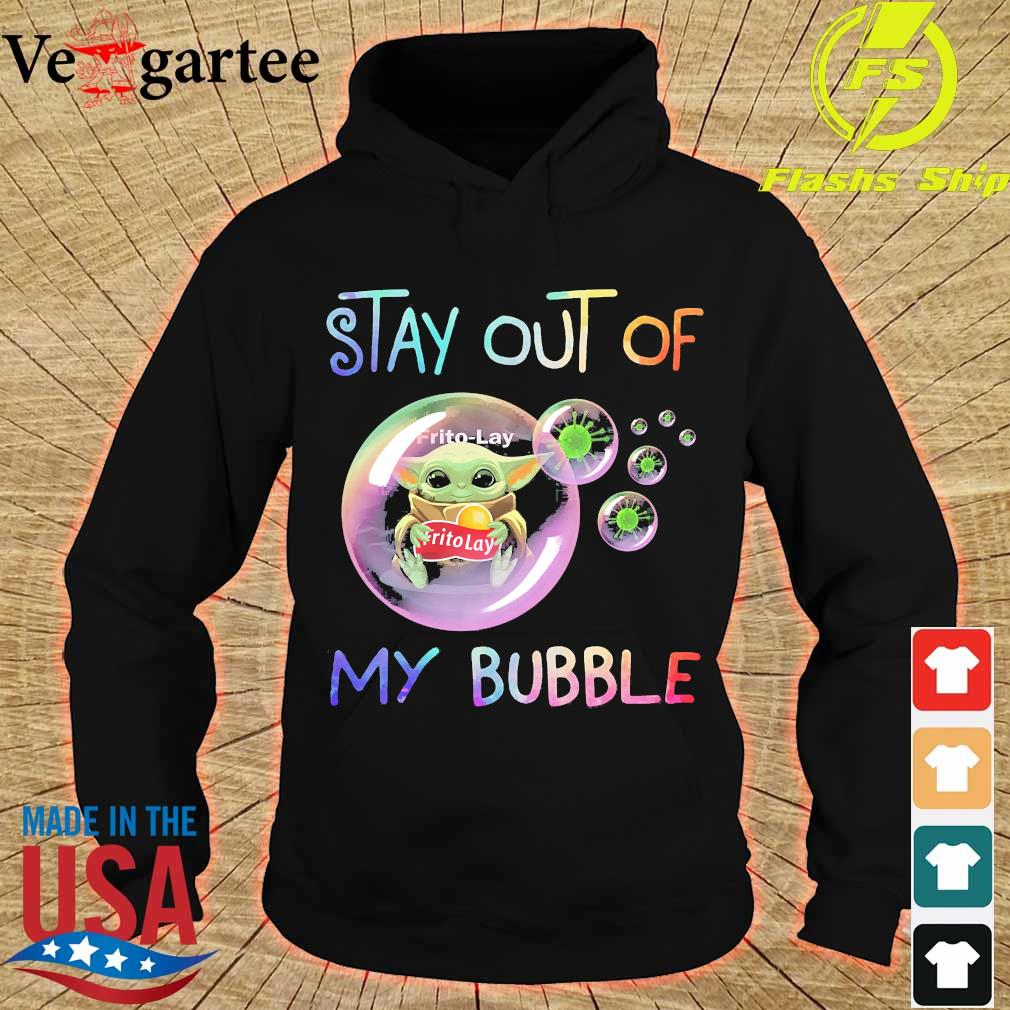 Baby Yoda hug Frito-Lay stay out of my bubble s hoodie