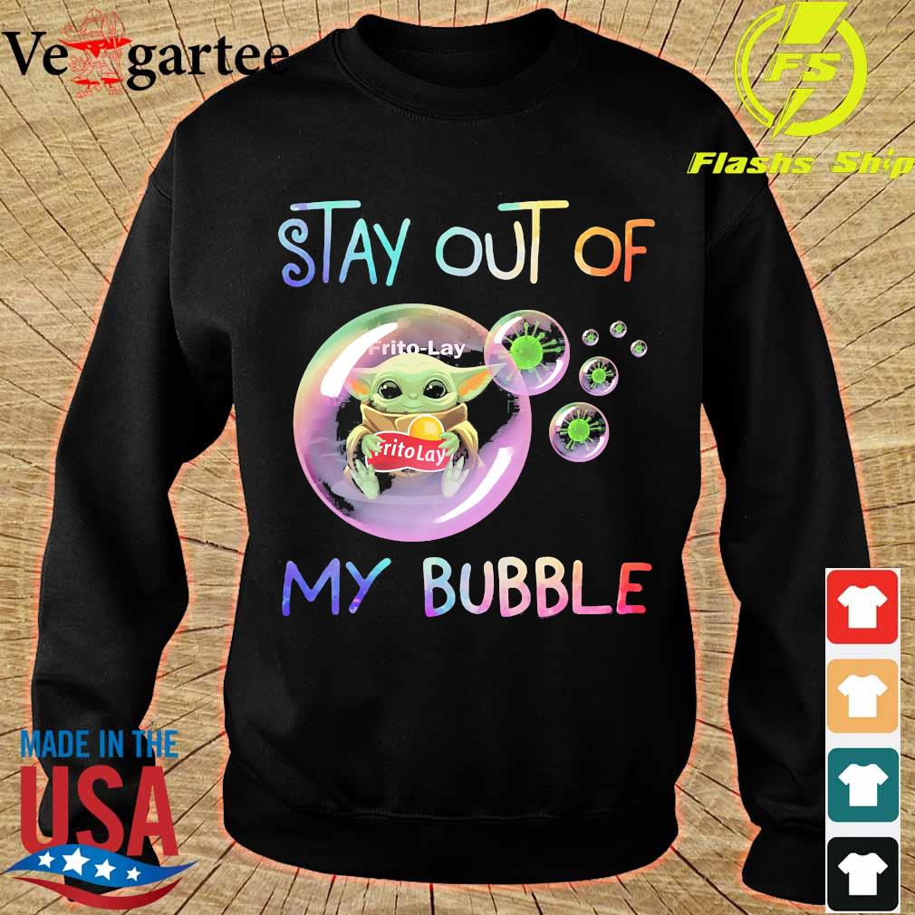 Baby Yoda hug Frito-Lay stay out of my bubble s sweater