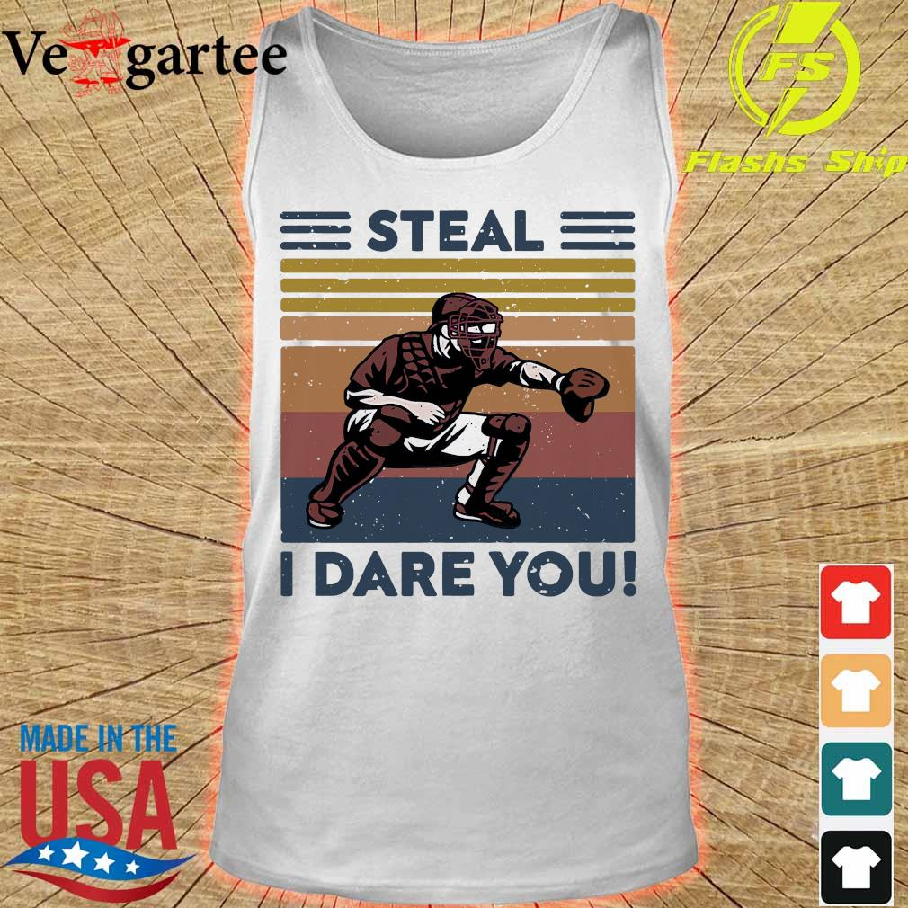 Baseball Steal I dare You vintage s tank top