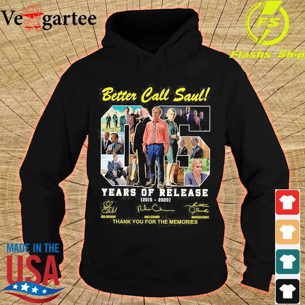 Better Call Saul 05 Years of release 2015 2020 thank You for the memories signatures s hoodie