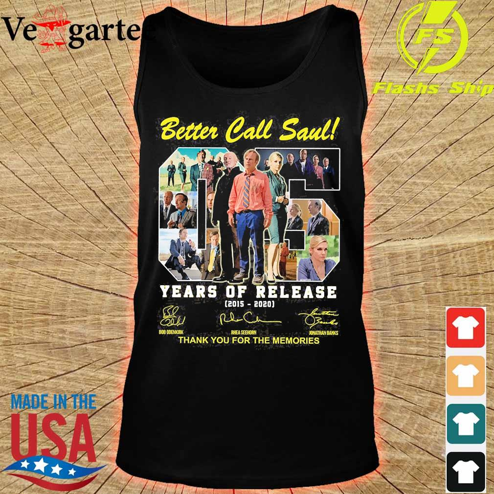 Better Call Saul 05 Years of release 2015 2020 thank You for the memories signatures s tank top