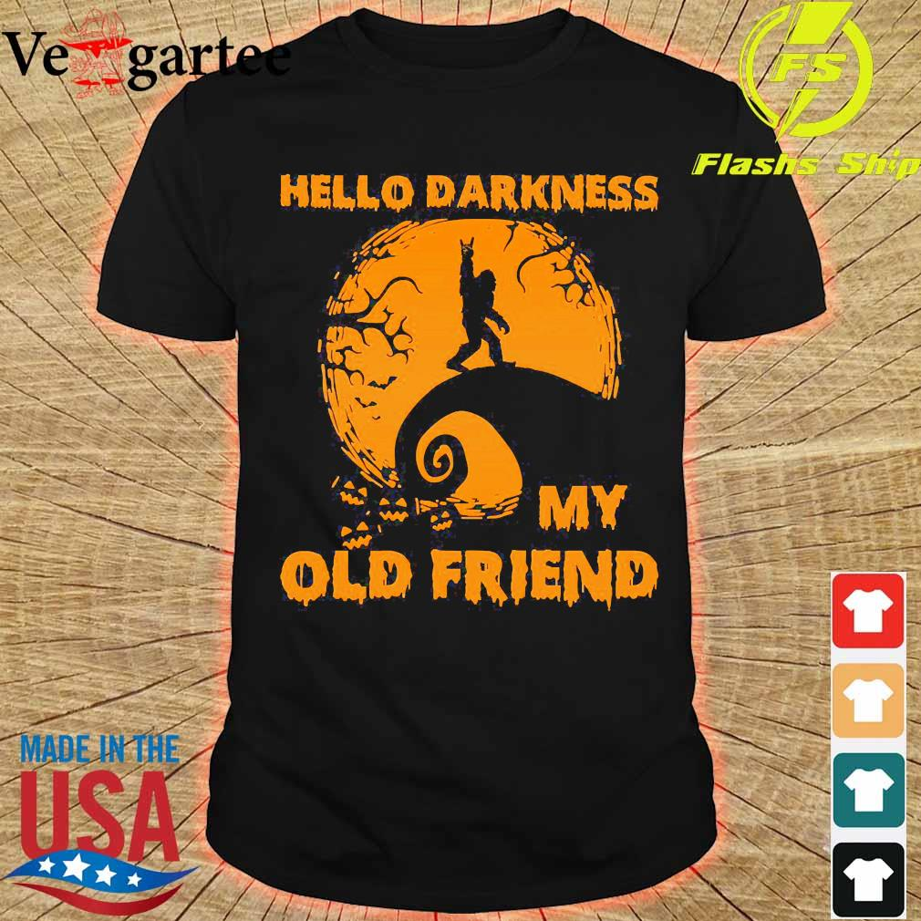 Bigfoot hello Darkness my old friend shirt