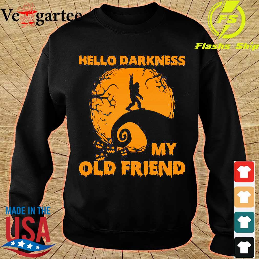 Bigfoot hello Darkness my old friend s sweater