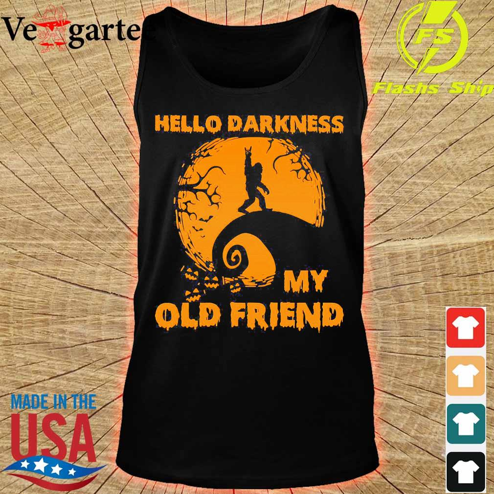 Bigfoot hello Darkness my old friend s tank top