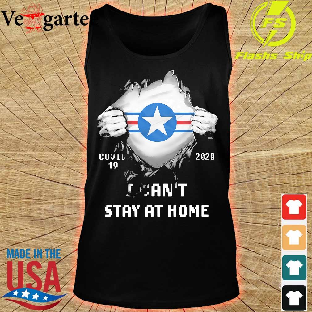 Blood inside me Air Force Roundel covid-19 2020 I can't stay at home s tank top