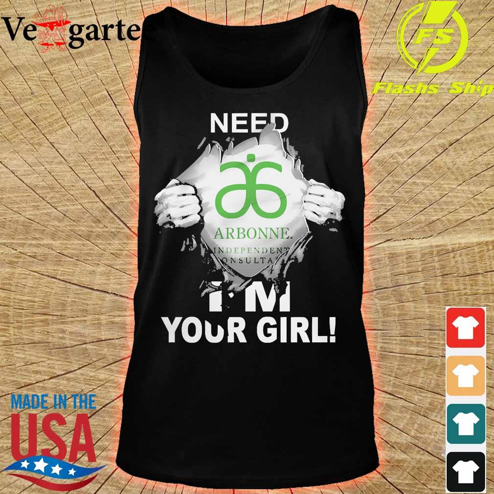 Blood inside me Arbonne need i'm your girl s tank top