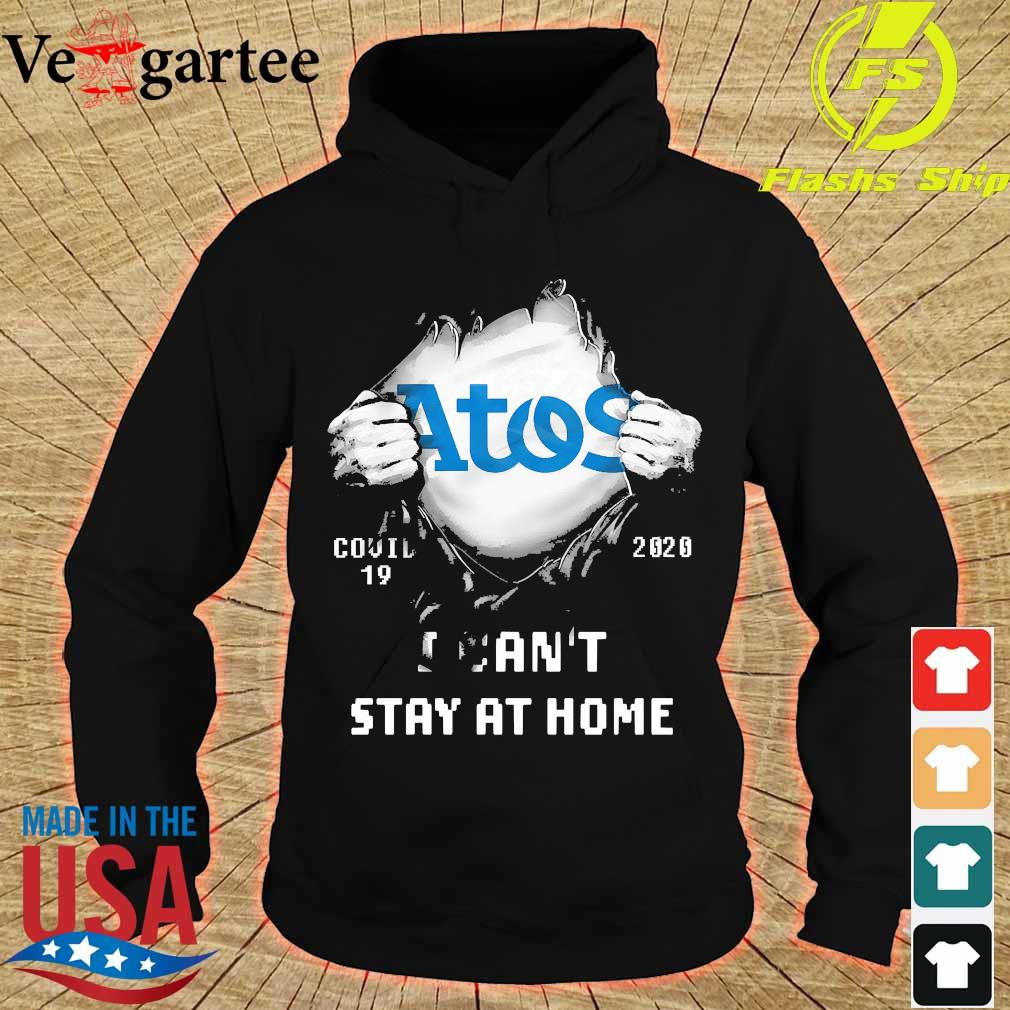 Blood inside me Atos covid-19 2020 I can't stay at home s hoodie