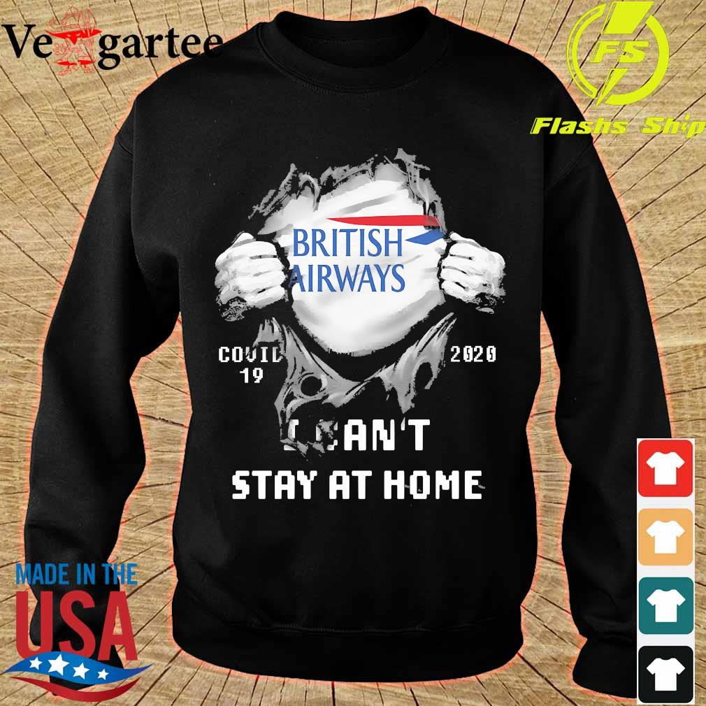 Blood inside me British Airways covid-19 2020 I can't stay at home s sweater