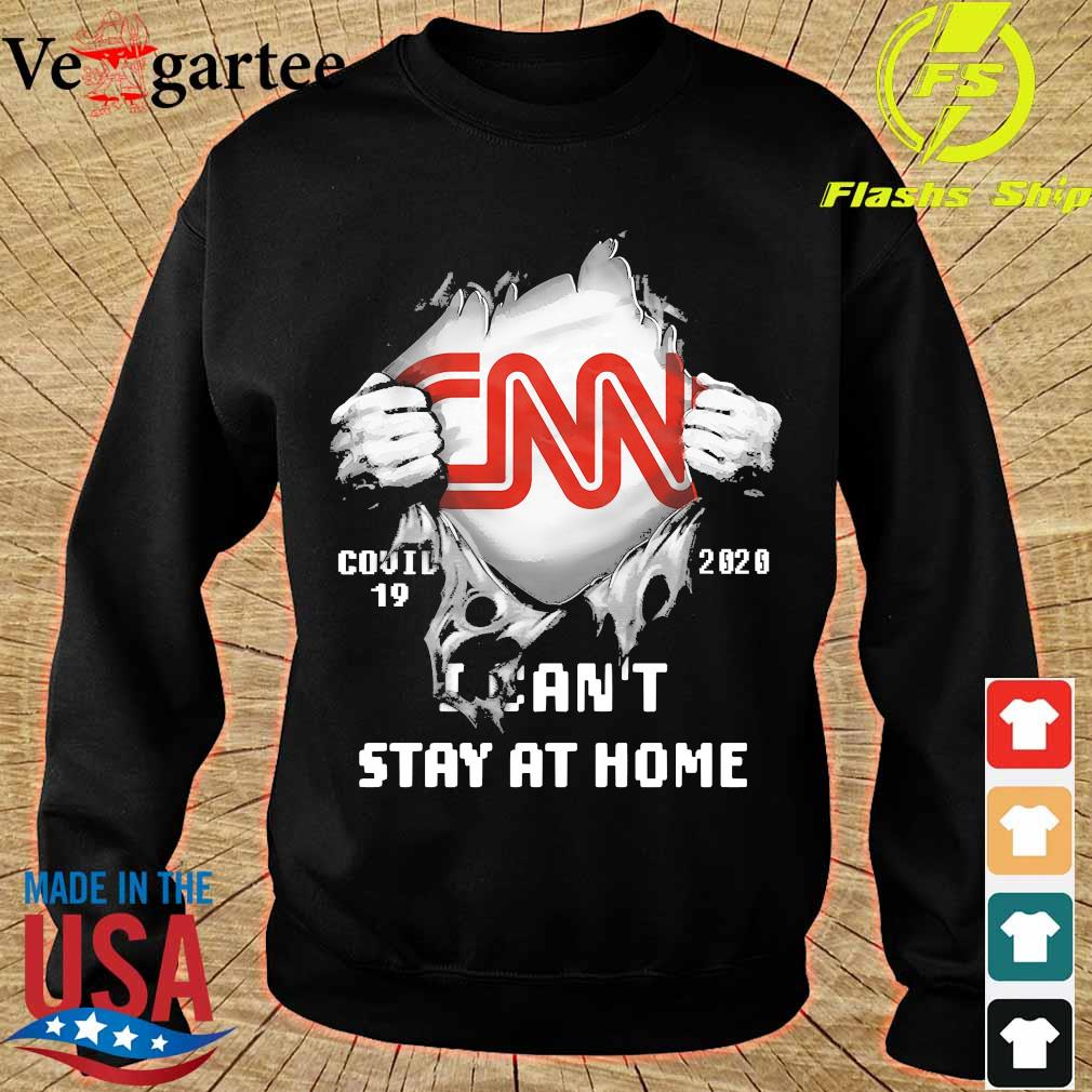 Blood inside me CNN covid-19 2020 I can't stay at home s sweater