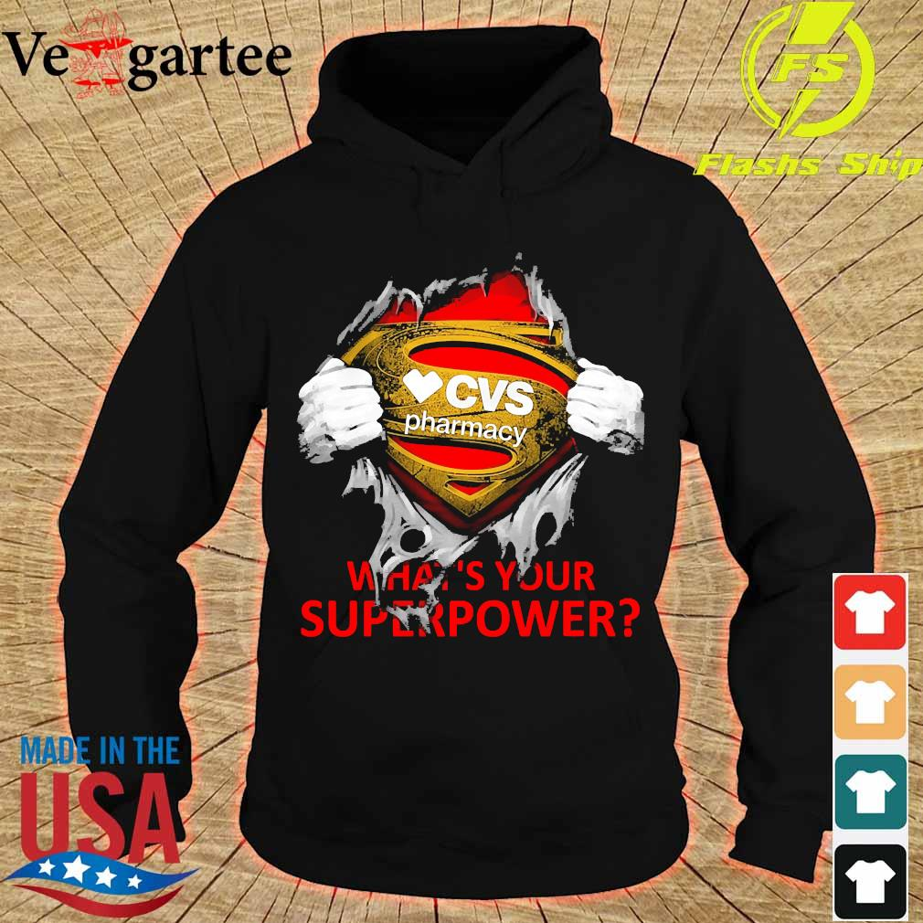 Blood inside me CVS Pharmacy what's your superpower s hoodie