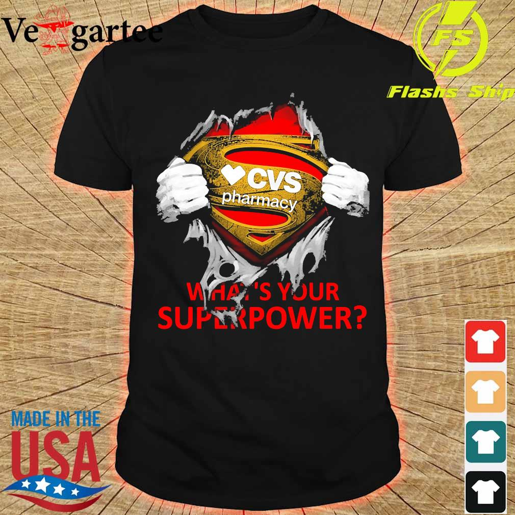 Blood inside me CVS Pharmacy what's your superpower shirt