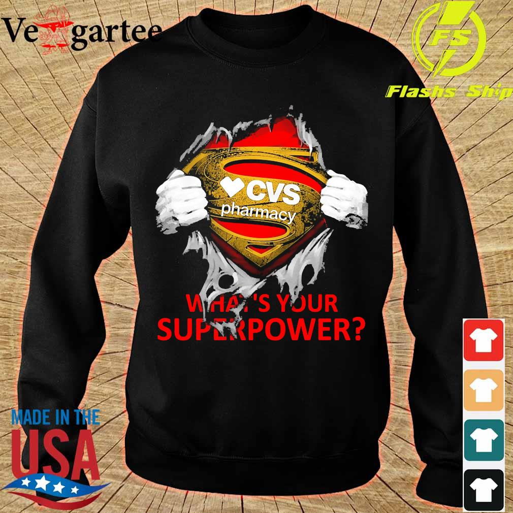 Blood inside me CVS Pharmacy what's your superpower s sweater