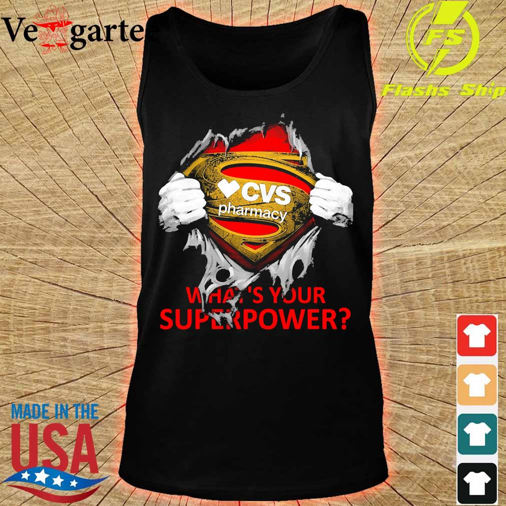 Blood inside me CVS Pharmacy what's your superpower s tank top