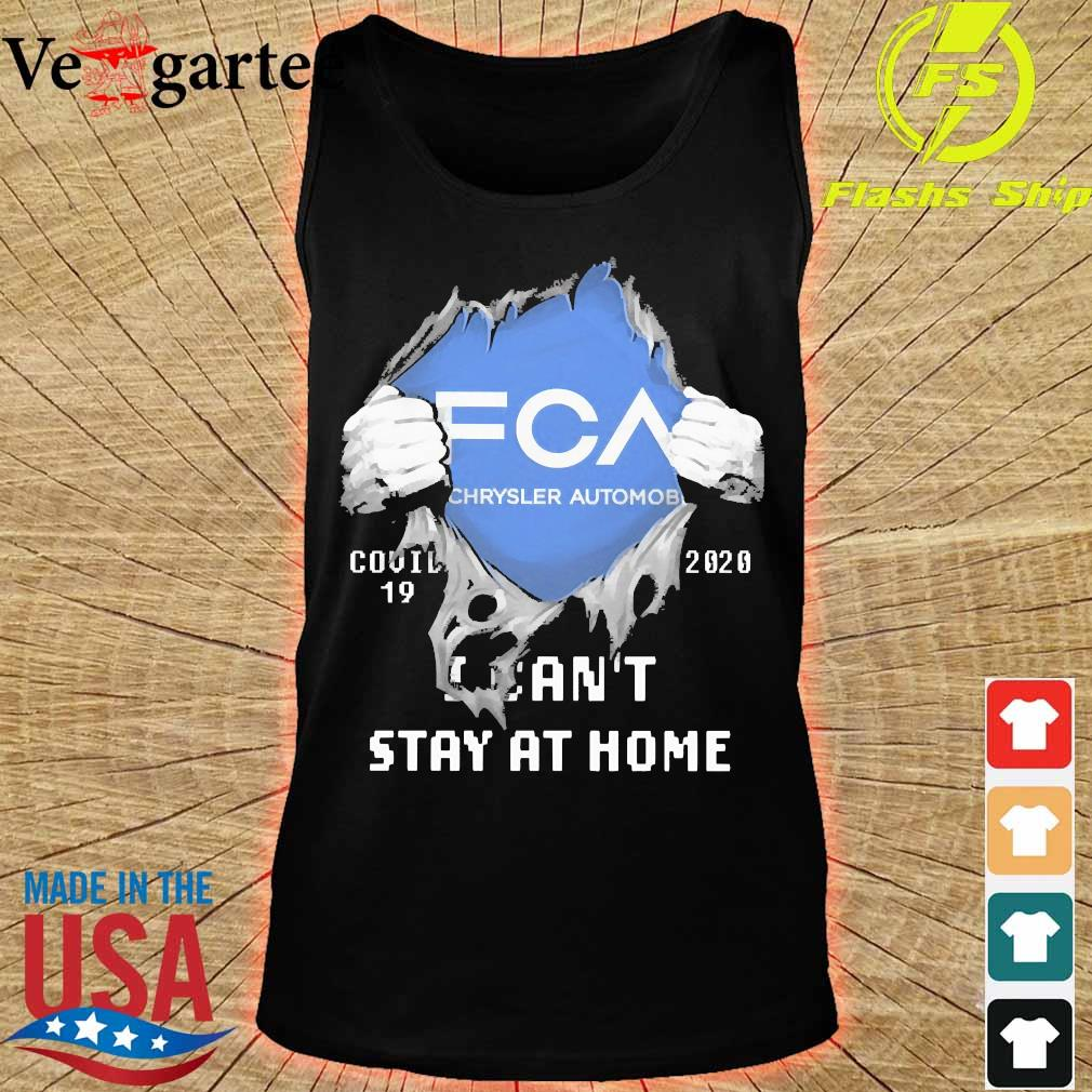 Blood inside me FCA Chrysler Automobile covid-19 2020 I can't stay at home s tank top