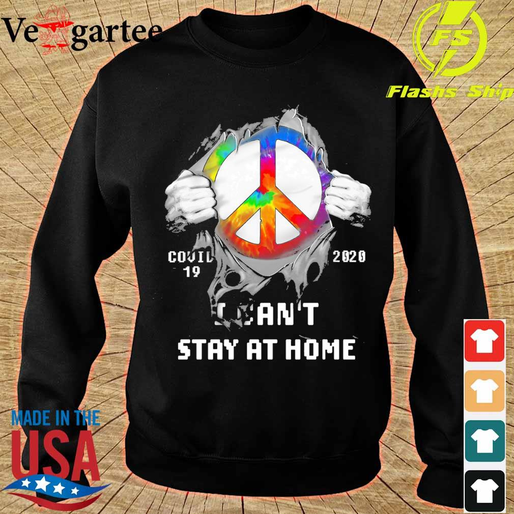 Blood inside me hippie icon covid 19 2020 I can't stay at home s sweater