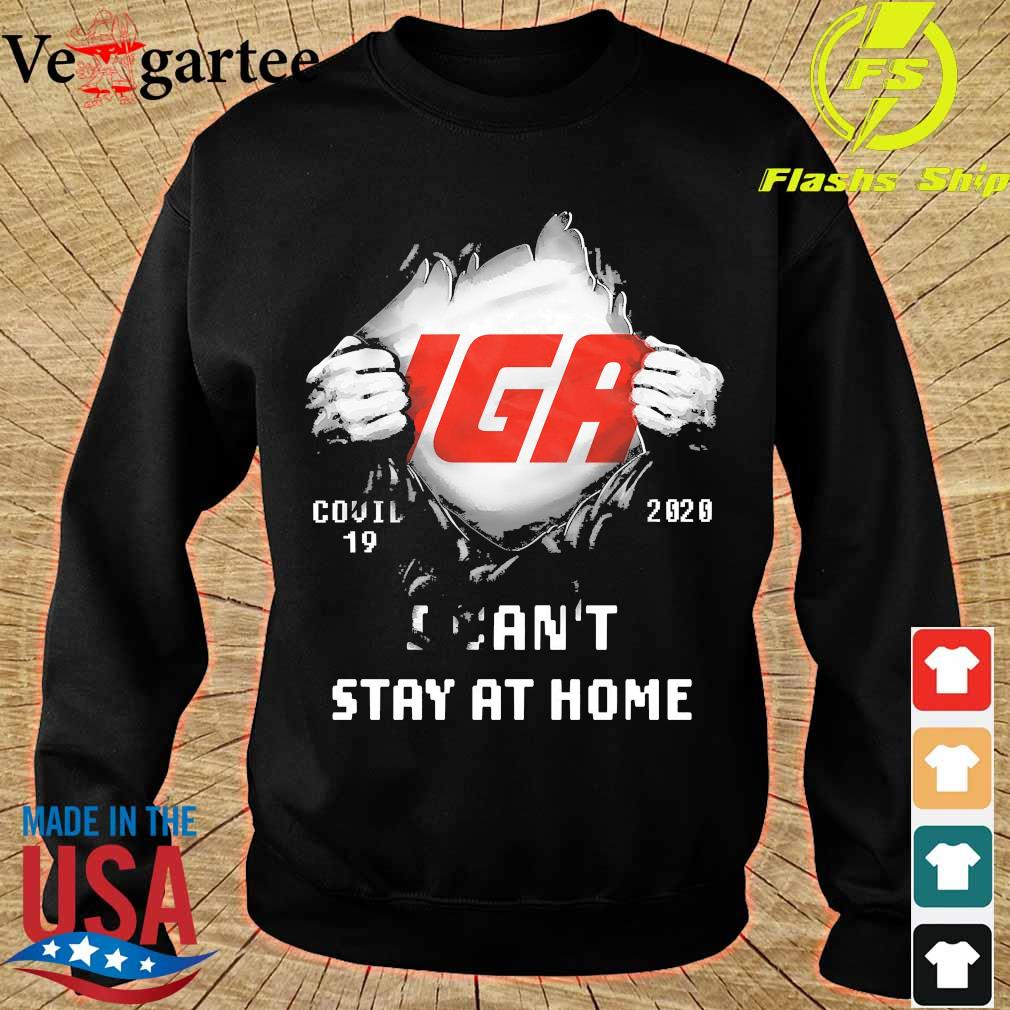 Blood inside me IGA covid-19 2020 I can't stay at home s sweater