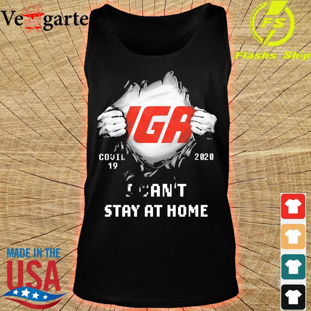 Blood inside me IGA covid-19 2020 I can't stay at home s tank top