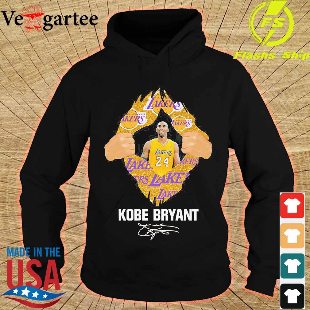Blood Inside me Kobe Bryant signature s hoodie