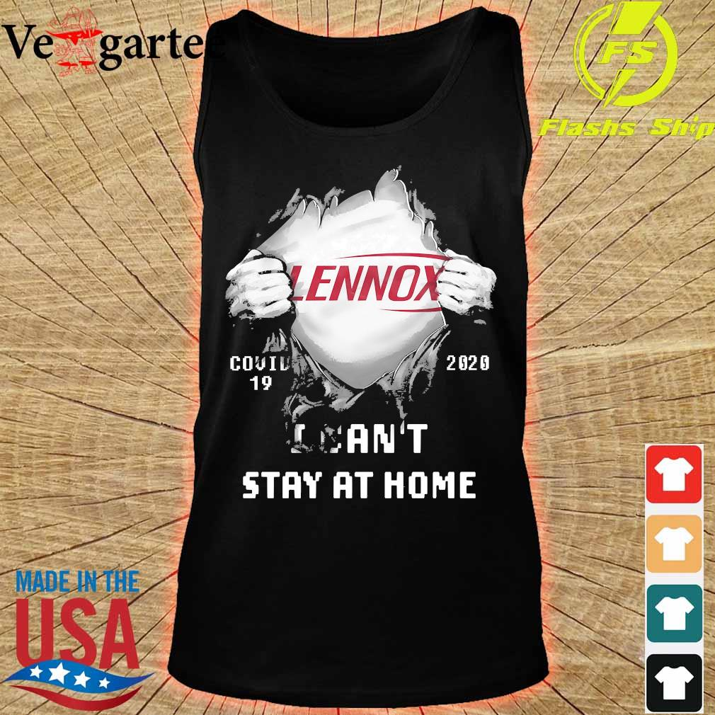 Blood inside me Lennox covid-19 2020 I can't stay at home s tank top