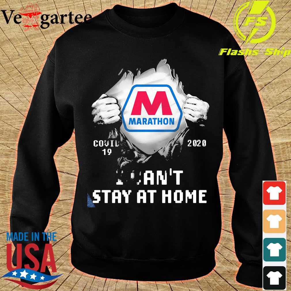 Blood inside me Marathon covid-19 2020 I can't stay at home s sweater