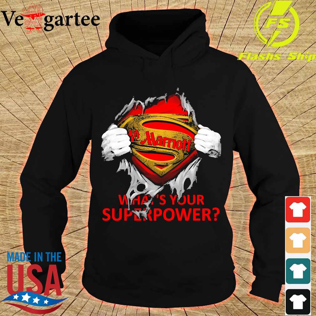Blood inside me Marriott what's your superpower s hoodie