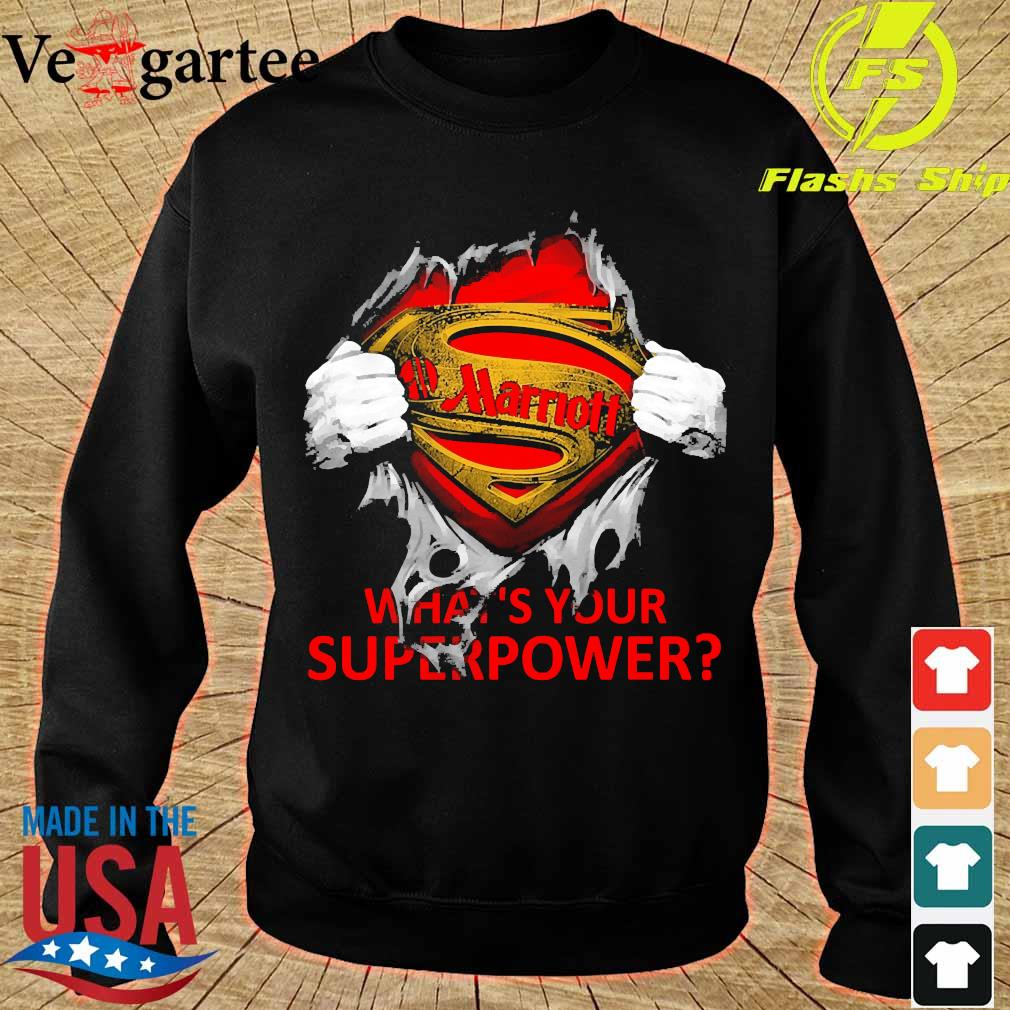Blood inside me Marriott what's your superpower s sweater